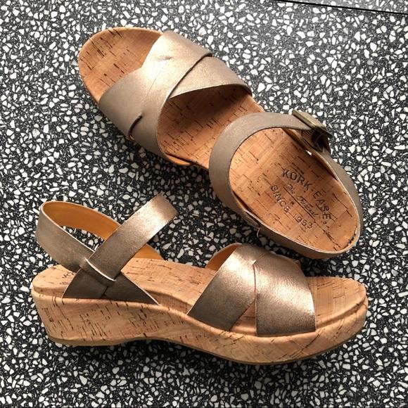 999ba680d12 Kork-Ease Shoes - Kork-Ease Myrna Soft Gold Wedge Sandals